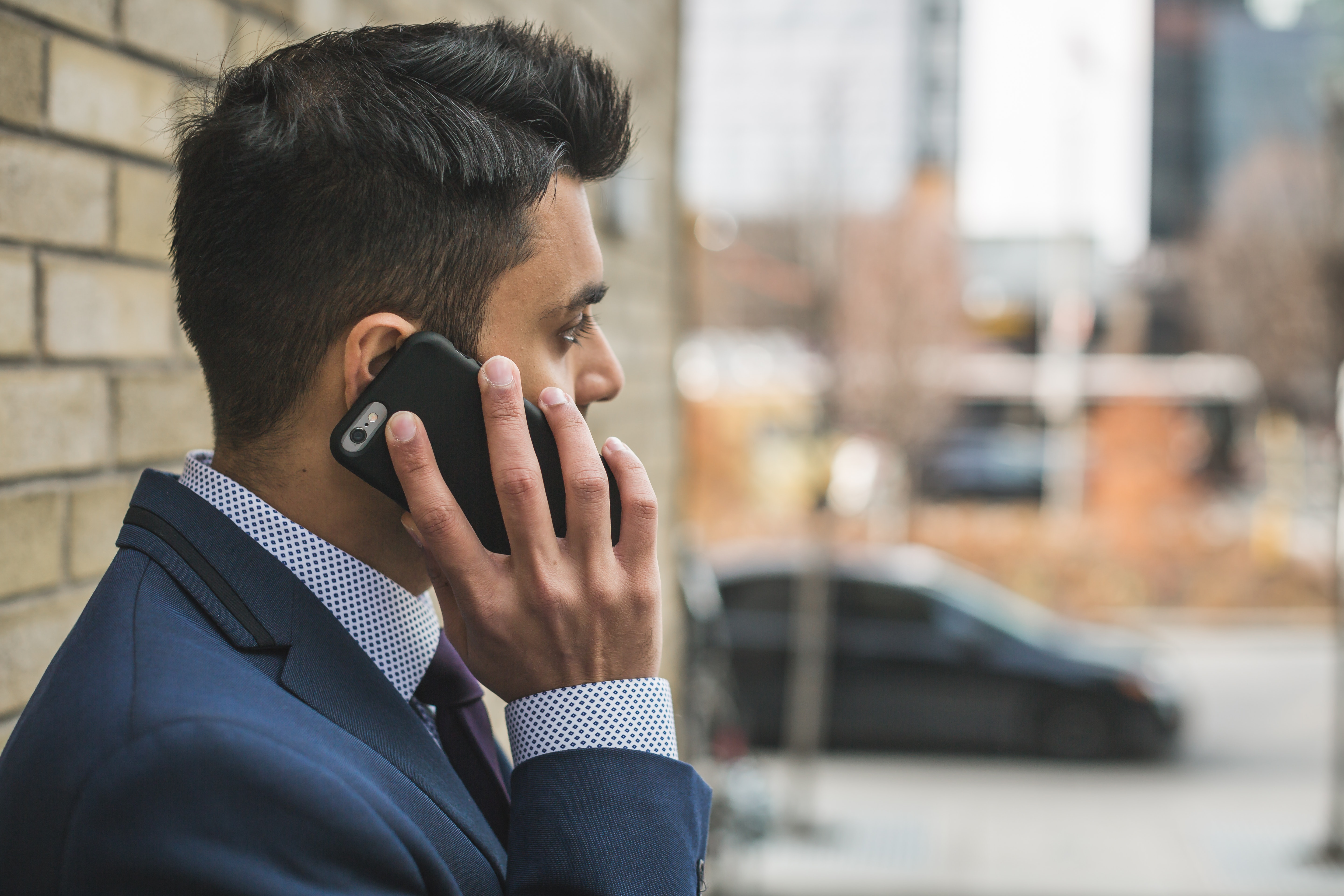 Man reporting harassment at work on an anonymous hotline