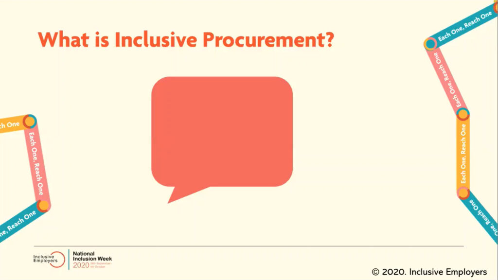 What is inclusive procurement? slide