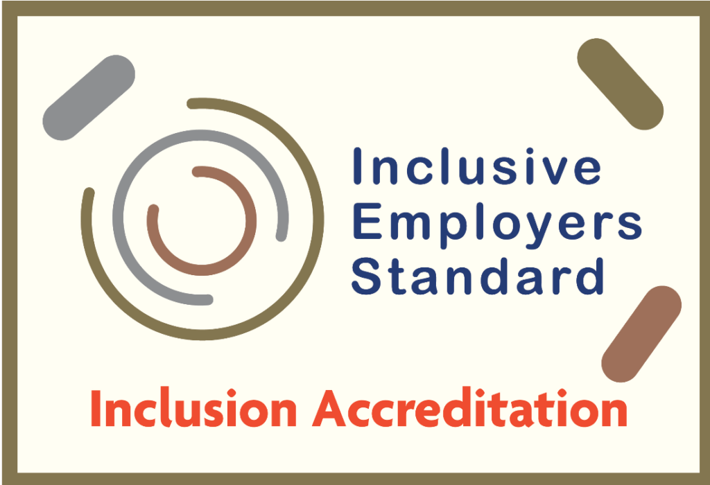 Logo and accreditation for the Inclusive Employers Standard