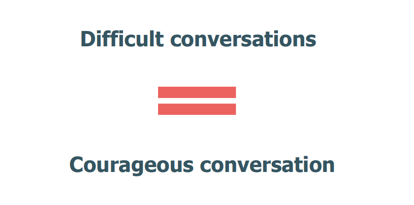 Difficult conversations = courageous conversations