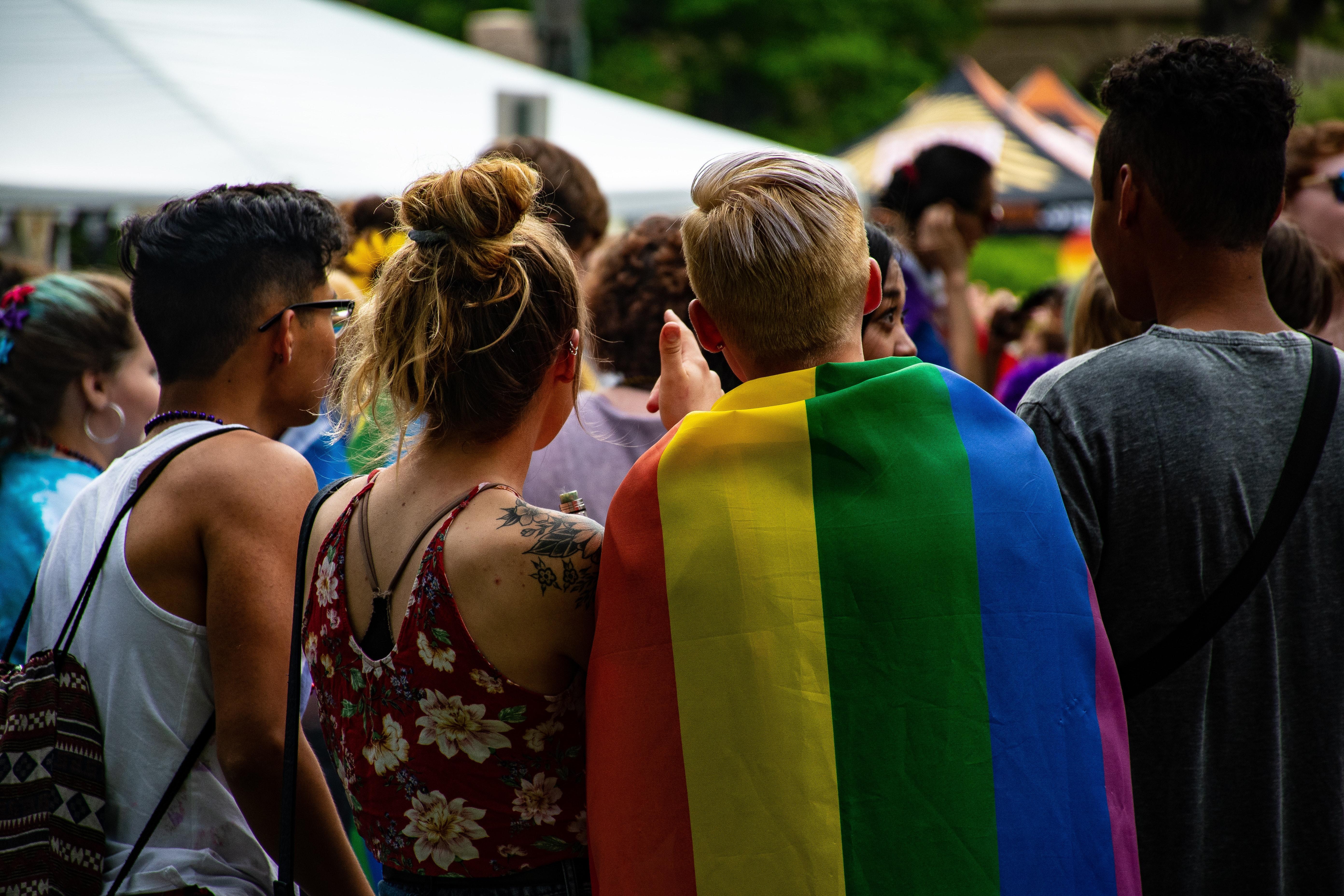 People attending pride