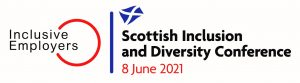 Lock up logo - featuring Inclusive Employers and The Scottish Inclusion and Diversity Conference